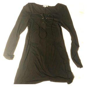 Black Dress - Plain - Chest Tie